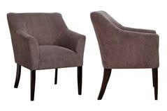 Barwioni krzesła na białym tle Zdjęcie Stock