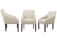 Barwioni krzesła na białym tle Obraz Stock