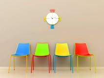 Barwioni krzesła Fotografia Royalty Free