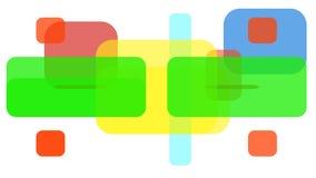 Barwioni kwadraty i prostokąty royalty ilustracja