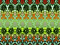 barwioni kwiaty deseniują bezszwowego Fotografia Royalty Free