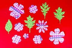 Barwioni liście tkanina Zdjęcie Stock