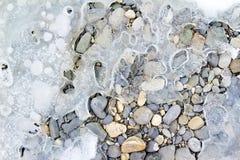 barwioni lodowi kamienie Obrazy Royalty Free