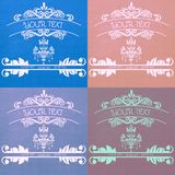 Barwioni logowie dla firmy Obrazy Royalty Free