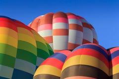 Barwioni lotniczy balony przy niebieskim niebem Zdjęcie Royalty Free