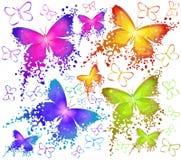 Barwioni motyle Zdjęcia Stock