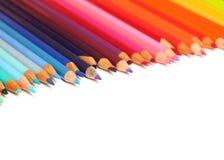 barwioni ołówki Zdjęcia Royalty Free