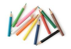 barwioni ołówki Obrazy Stock