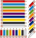 barwioni ołówki ilustracji
