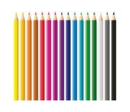 Barwioni ołówki, kredki ustawiają szkoła, z powrotem ilustracji