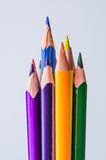 barwioni ołówki na białym tle Obraz Royalty Free