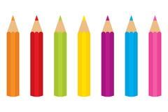 barwioni ołówki ustawiają wektor ilustracji