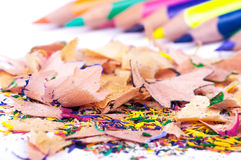 Barwioni ołówki z goleniami Zdjęcie Royalty Free