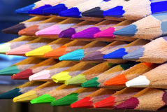 barwioni ołówki Fotografia Stock