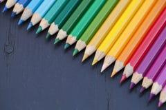barwioni ołówki Zdjęcie Royalty Free