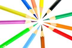 Barwioni ołówki. zdjęcie stock
