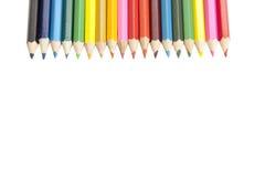 Barwioni ołówki. Zdjęcia Stock