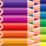 Barwioni ołówki na tle Zdjęcie Royalty Free