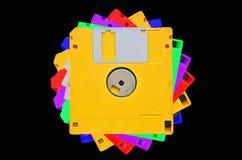 Barwioni opadający dyski fotografia stock