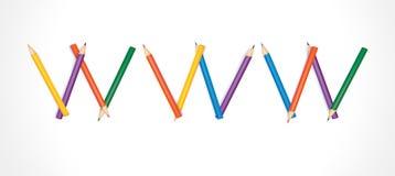 barwioni opanowani ołówki Www Obraz Royalty Free