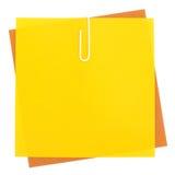Barwioni papiery z zszywką Obrazy Royalty Free