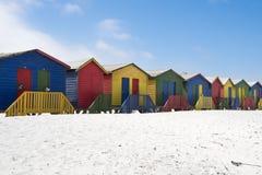 Barwioni plażowi domy obrazy royalty free