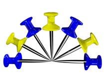 barwioni plastikowi pushpins Fotografia Royalty Free