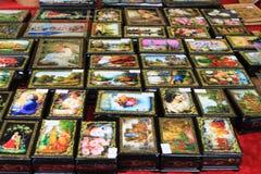 Barwioni pudełka Zdjęcie Royalty Free