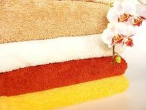 barwioni ręczniki Zdjęcia Royalty Free