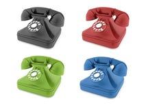Barwioni starzy telefony odizolowywający Zdjęcie Royalty Free