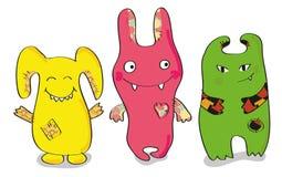 barwioni szczęśliwi potwory Fotografia Royalty Free