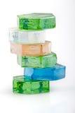 barwioni szklani kamienie Zdjęcia Royalty Free