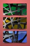 Barwioni sztandarów szablony Cyfrowego węgla tło Zdjęcia Royalty Free