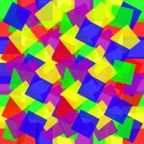 barwioni tło kwadraty Obrazy Royalty Free