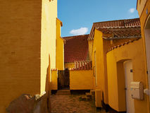 Barwioni tradycyjni Duńscy domy Obraz Royalty Free