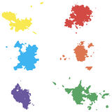 Barwioni wektorów kleksy Seth kleksy na białym tle elementy projektu podobieństwo ilustracyjny wektora Zdjęcie Royalty Free