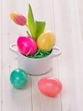 Barwioni Wielkanocni jajka zdjęcie stock