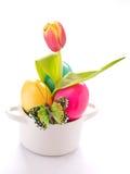 Barwioni Wielkanocni jajka obrazy stock