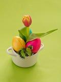 Barwioni Wielkanocni jajka fotografia stock