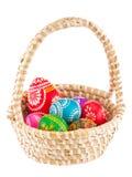 Barwioni Wielkanocni jajka Obraz Royalty Free
