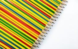barwioni wielo- ołówki zdjęcia royalty free