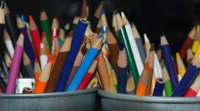 barwioni wielo- ołówki Obrazy Stock