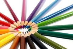 barwioni wielo- ołówki fotografia royalty free
