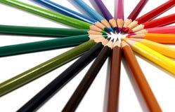 barwioni wielo- ołówki obraz royalty free