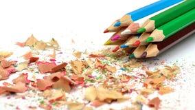 barwioni wielo- ołówki Zdjęcie Stock