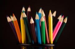 barwioni zbliżenie ołówki Obrazy Stock