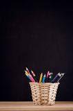 barwioni zbliżenie ołówki Zdjęcie Stock