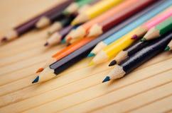 barwioni zbliżenie ołówki Obrazy Royalty Free