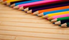 barwioni zbliżenie ołówki Obraz Stock