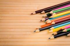 barwioni zbliżenie ołówki Obraz Royalty Free